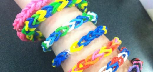 Двойные браслеты из резинок