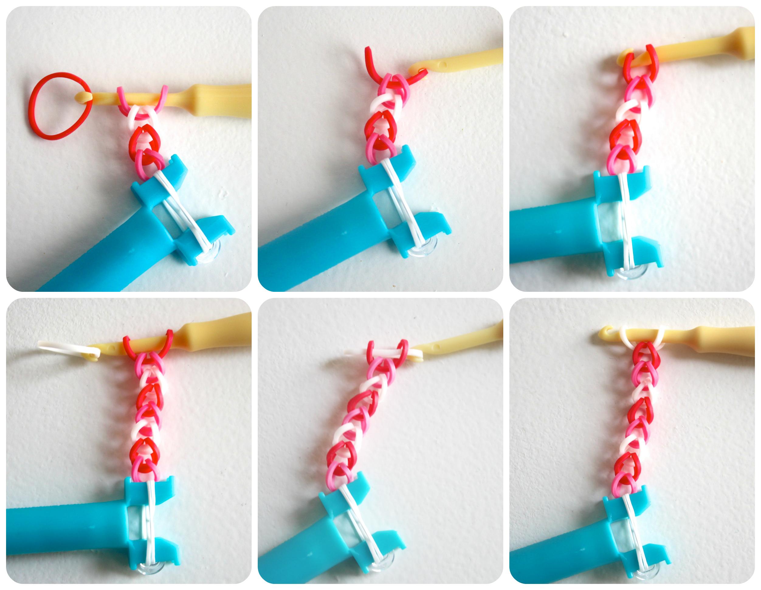 Как сделать браслеты из резинок поэтапно
