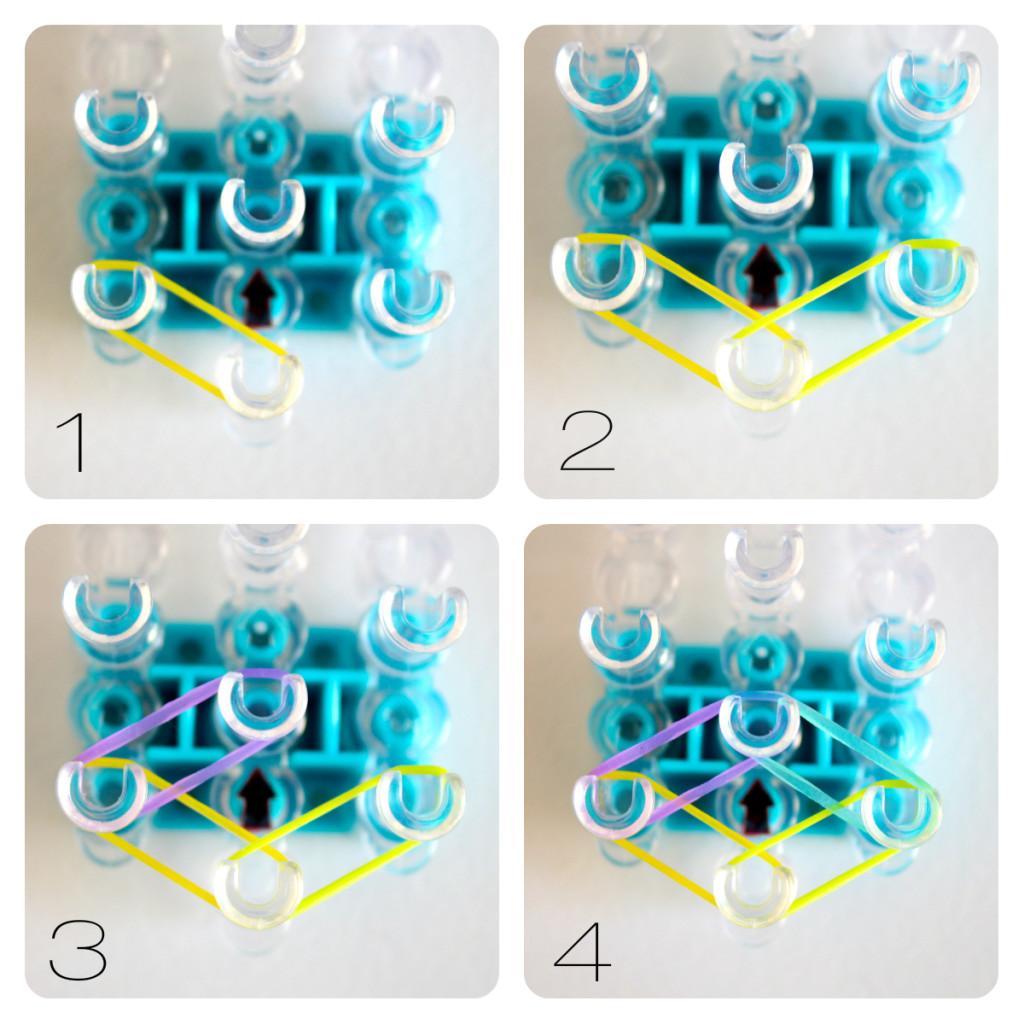 Схема плетения двойного браслета