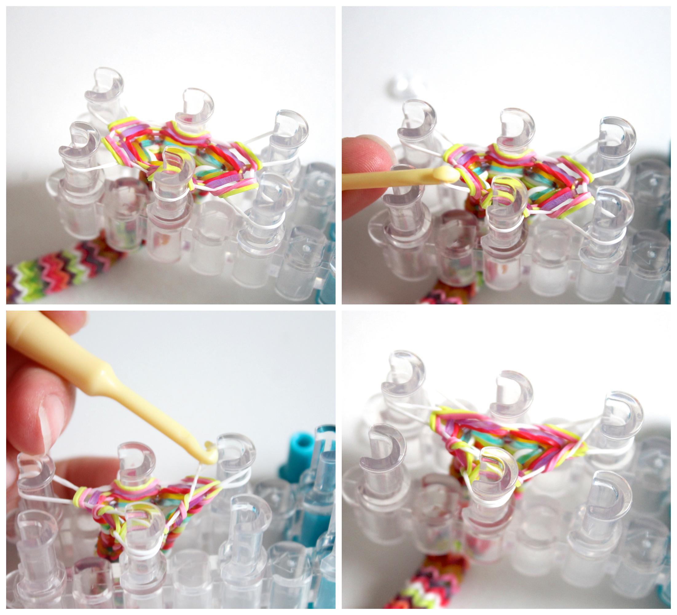 плести браслеты из резиночек на вилке схемы