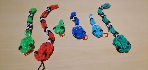 Аксессуары из резинок - змейка