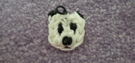 Схема плетения панды брелока