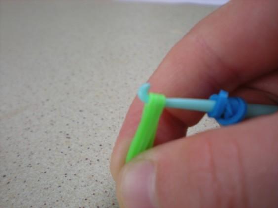 Схема плетения черепашки на станке - резинки на крючке