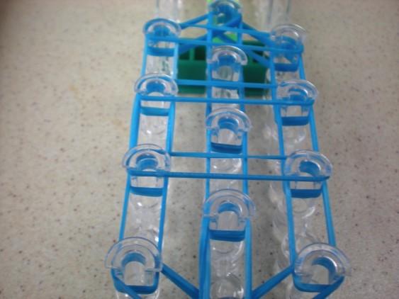 Схема плетения черепашки на станке - соеденительные резинки
